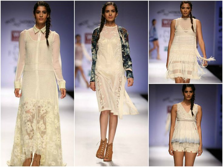 Pallavi-Mohan's Collection at Wills India Fashion Week Spring Summer 2014: White see-through