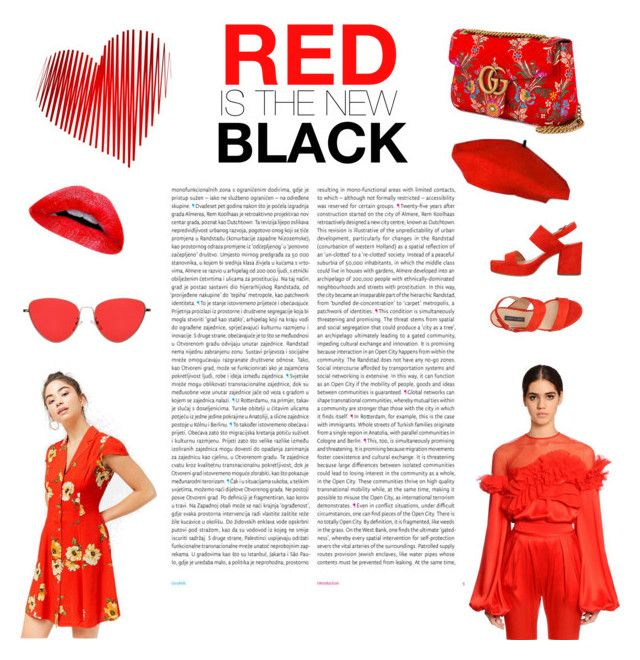 """""""RED IS THE NEW BLACK"""" by diana-jevcakova on Polyvore featuring Oris, Love 21, Givenchy, Gucci and Janet & Janet"""