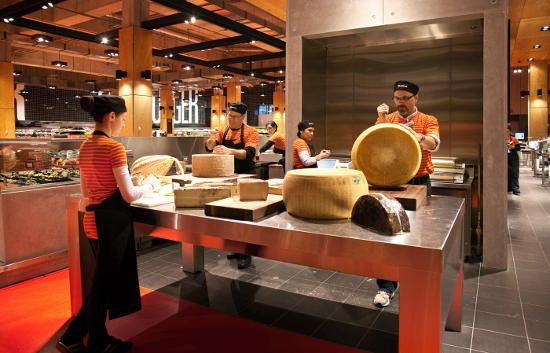 03/24/12 (photo: in front of the cheese wall at Loblaws Maple Leaf Gardens) Loblaw Companies earned a spot in the Guinness Book of World Records. The most wheels of authentic Parmigiano-Reggiano cheese cracked at once.: Guinness Books, 03 24 12 Photos