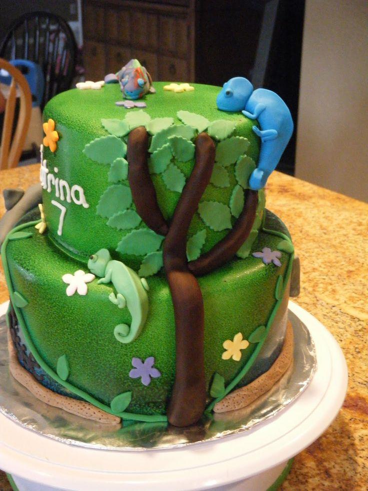 Chameleon Birthday Cake Cakepins Com Cham 228 Leon Party