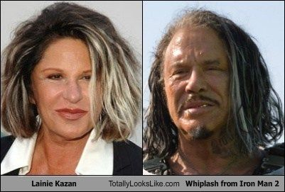 Lainie Kazan Totally Looks Like Whiplash (Mickey Rourke) from Iron Man 2  Iron Man Superheroes Marvel Comics Superhero Movies Meme
