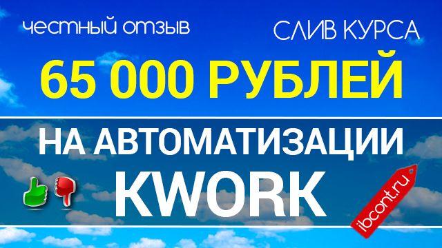 СКАЧАТЬ : 65000 РУБЛЕЙ НА АВТОМАТИЗАЦИИ KWORK | Infobizz Control