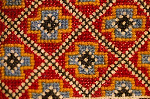Detail, needlework, Evjutunet utstilling bunad