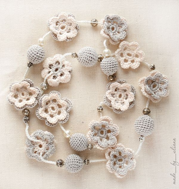 crochet necklace by made_by_uliana, via Flickr