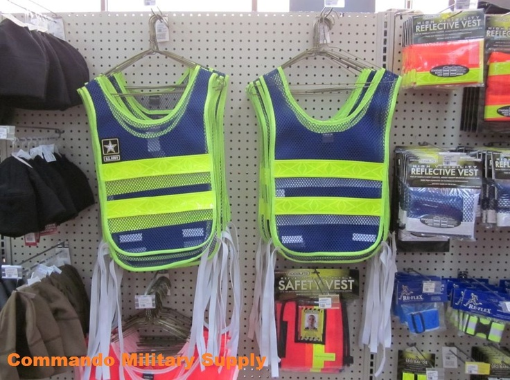 Reflective vests and belts at Commando Military Supply.