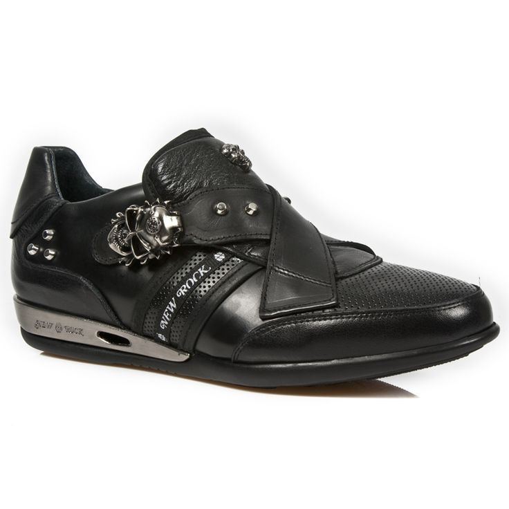 Quality black leather dress shoes from New Rock Shoes. Lacing up the front, Skull buckle on the top to adjust for comfort. Metal on the heels. Available in all Unisex Sizes. NOW ONLY $209.99 w Shipping Included! http://www.newrockbootsusa.com/Black-Leather-Hybrid-Shoes-w-Skull-Buckle_p_2434.html