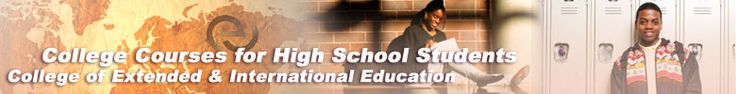 FREE Home School Curriculum:  CSU College:  Online College Courses for High School Students