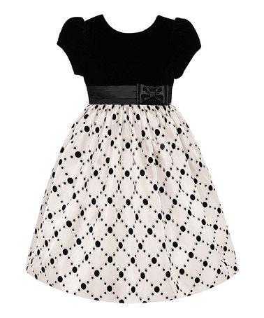 Love this Black & Platinum Dress - Girls on #zulily! #zulilyfinds