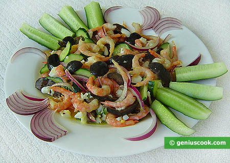 Shrimp Salad with Cucumbers | Dietary Cookery | Genius cook - Healthy Nutrition, Tasty Food, Simple Recipes