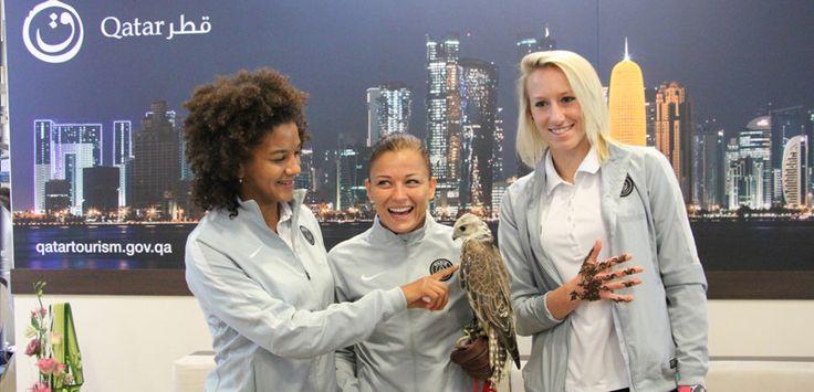 Sara Gama, Laure Boulleau, et Katarzyna Kiedrzynek - QATAR LADIES TOUR 2015