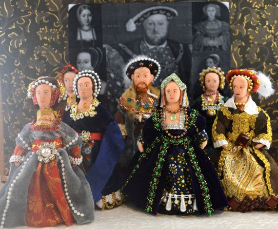 King Henry Vlll and His Six Wives Dream Set Doll Miniature Tudor History Royals of Britain