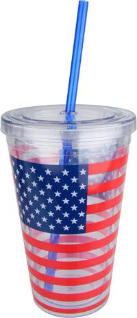 American Flag Insulated Travel Cup at The Animal Rescue Site