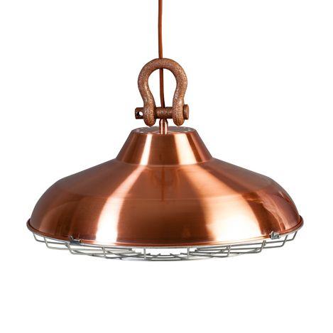 Industrielamp voor aan het plafond in het koperkleur met een doorsnede van 45cm en een mooie bijpassende koperen plafondplaat.✓ Gratis verzending ✓ Snelle levering ✓ Keurmerk
