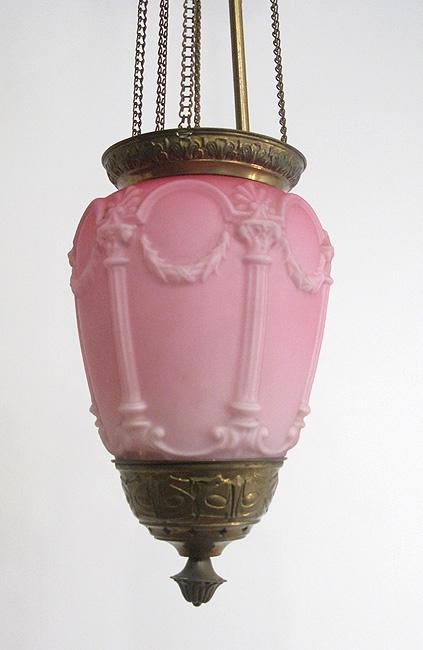 Victorian Glass Pendant Lantern  -parishotelboutique.com