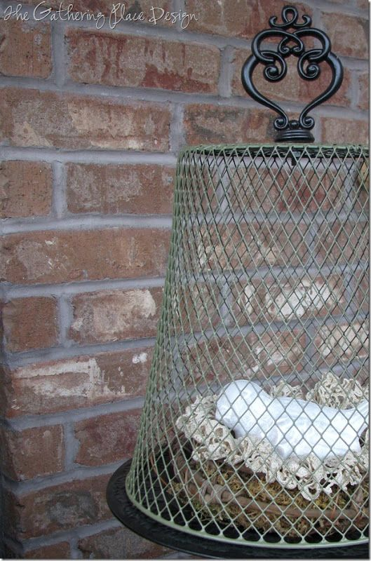 The Gathering Place Design: {Dollar Store} Wire Cloche, very cute !!  It's a MUST do…
