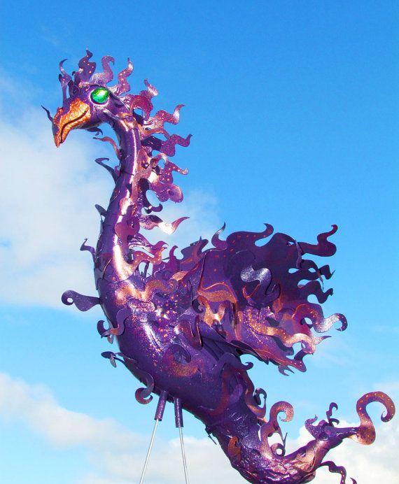 Purple Phoenix Flamingo Incognito handmade recycled by CedarMoon