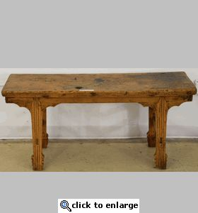 Antique Asian Bench Table (Chinese Arrow Leg Bench)