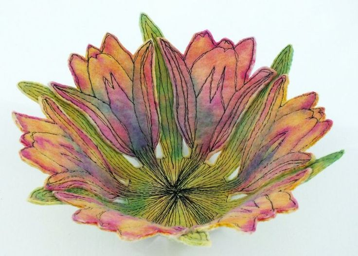 Tulip Bowl. Lovely idea. Make flat, then cut out and dry (perhaps stiffen) in bowl shape?