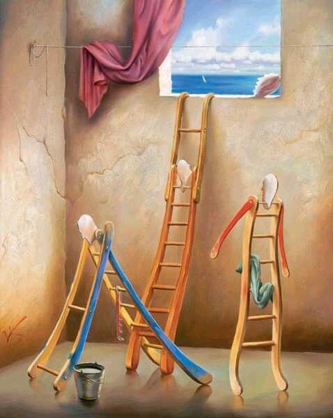 Vladimir Kush - Ladders
