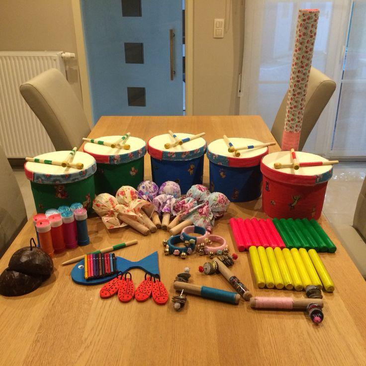 Zelfgemaakte instrumenten voor kleuters