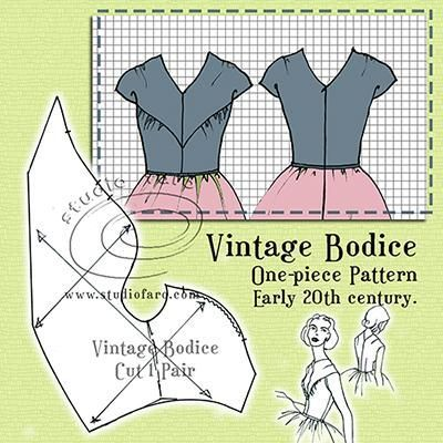 Add one skirt! #PatternPuzzle - Vintage Bodice http://www.studiofaro.com/well-suited/pattern-puzzle-vintage-bodice #farovintage #sewing