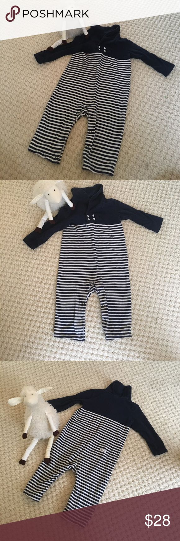 Janie & Jack baby Boy blue striped jumper 6-12m Adorable blue and white striped jumper 6-12m - signs of washing no stains! Janie and Jack One Pieces Bodysuits
