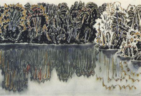 David Milne—Dark Shore Reflected Bishop's Pond, 1920