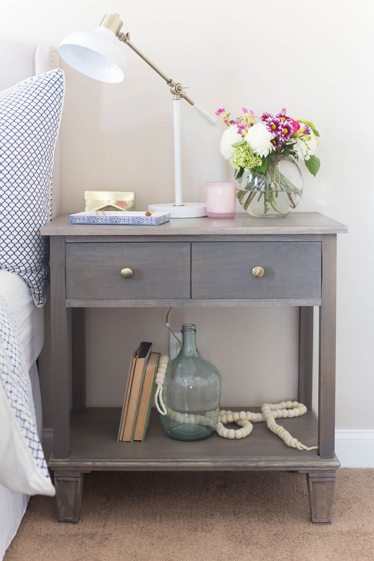 DIY Pottery Barn Inspired Nightstands are a great way to get a high-end look at a fraction of the cost. This project is amazing!