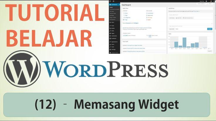Belajar Wordpress - (12) Memasang Widget