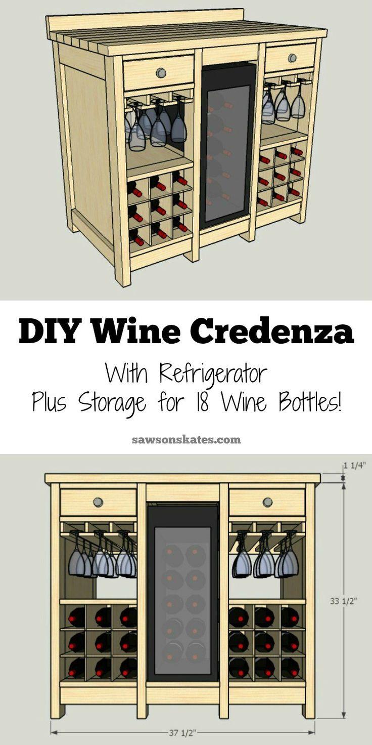 Diy Wine Credenza With Wine Refrigerator Building