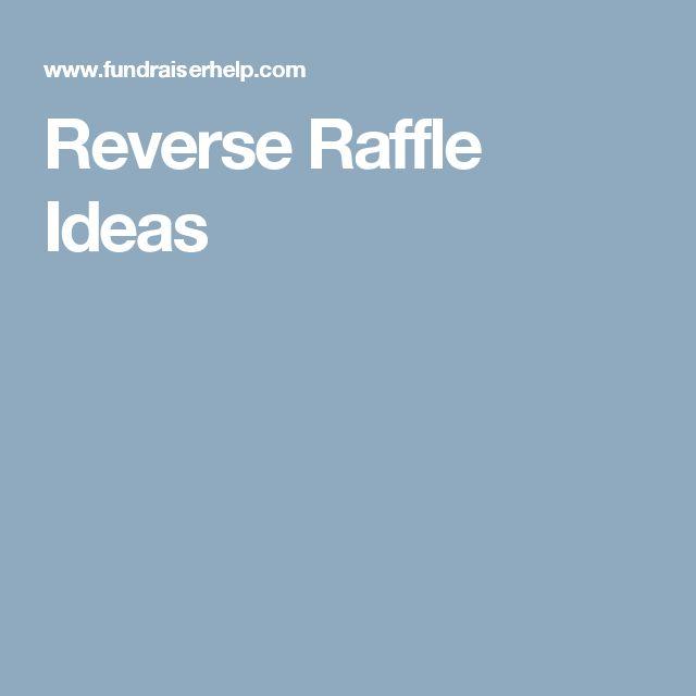 Reverse Raffle Ideas