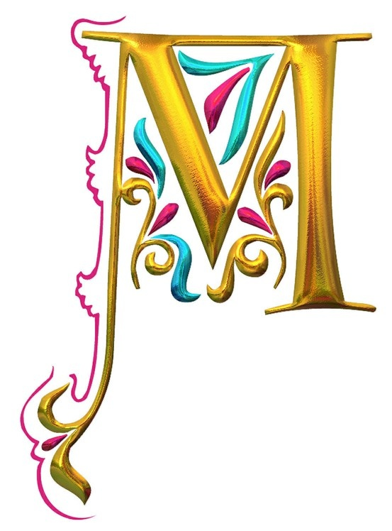 Decoration Letters, Illuminated Letters, Illuminated Initials, Letters ...