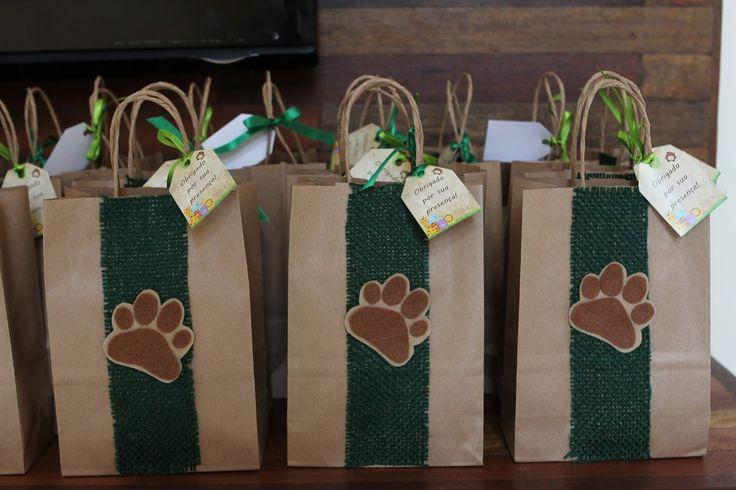 Festa Machê: Animais da Floresta - Sacolinha surpresa