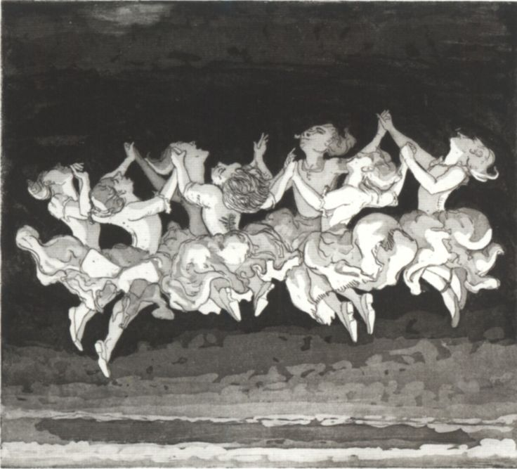 Paula Rego The Dance 1988 etching and Aquatint
