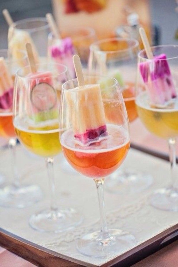 Summer Wedding Dessert Ideas: Popsicle cocktails