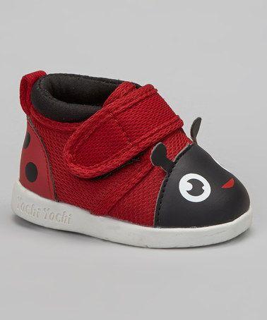 Look at this #zulilyfind! Red Miss Mushi Ladybug Squeaker Shoe #zulilyfinds