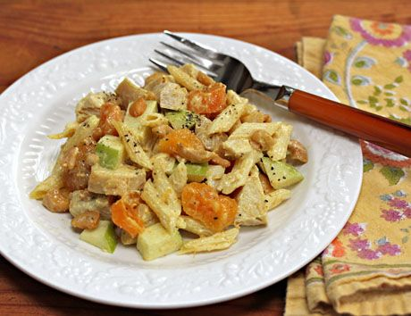 Recipe for curried chicken pasta salad with apricots and cashews {The ...