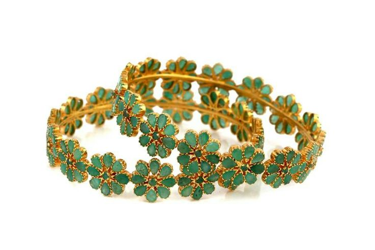 Emerald bangles#