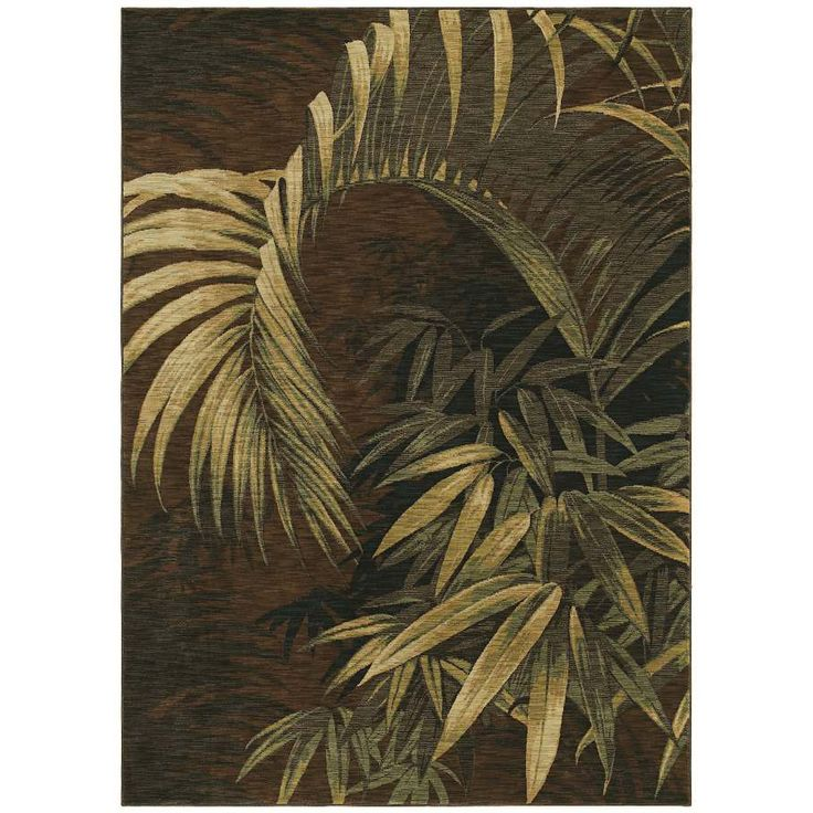 Tommy Bahama Home Rugs Dark Brown Polynesian Palms Transitional Rug (1'10 x 2'9) - Overstock™ Shopping - Great Deals on Tommy Bahama Accent Rugs
