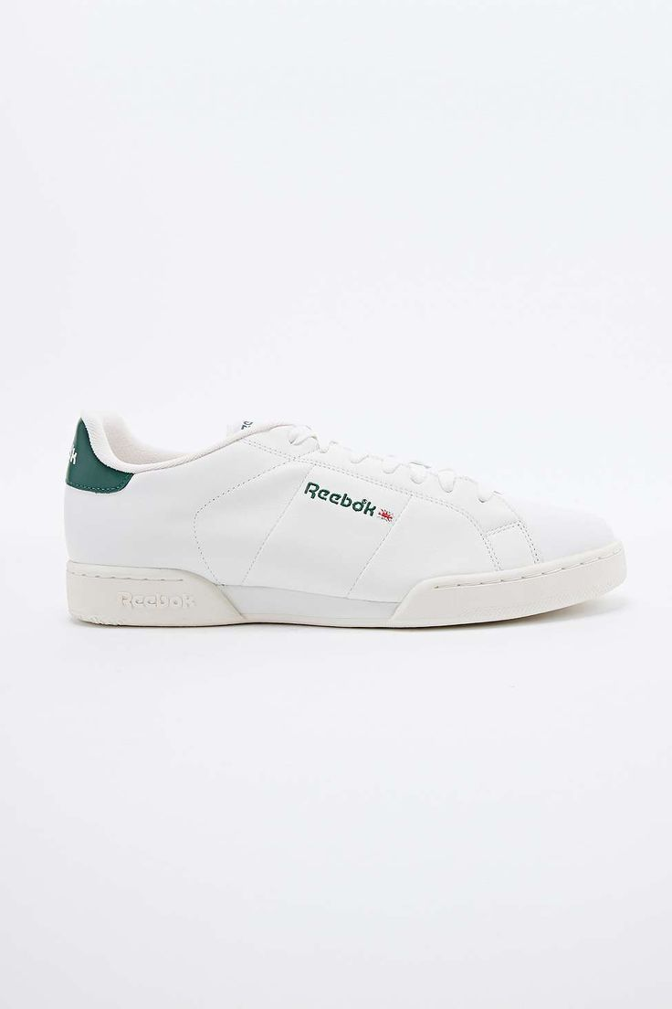 Reebok NPC Vintage Trainers in White and Green
