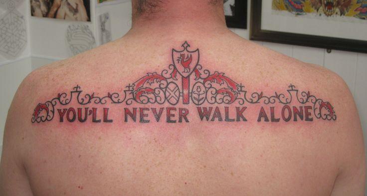 Liverpool Football Club You Ll Never Walk Alone Shakily Gates Tattoo Irish Street Tattoo Downpatrick Belfast Tattoos Liverbird Tattoo