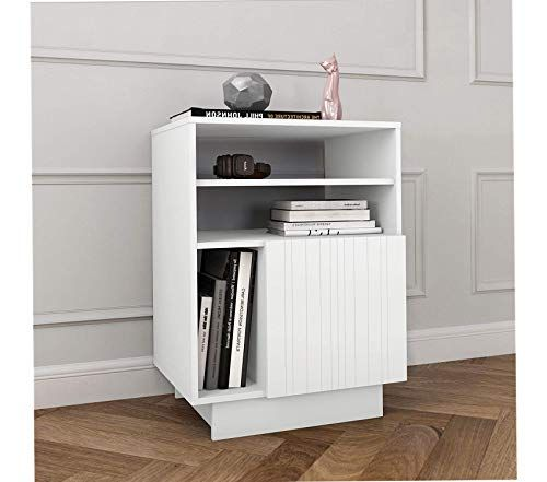 Nexera Deluxe Premium Collection Marble 1 Door White Audio Tower Matte Lacquer Melamine Decor Comfy Living Furnitu Storage Spaces Upholstered Bedroom Furniture