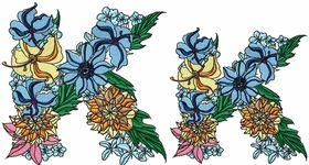 Exotic Flowers Font - Letter K