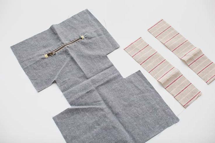 Handmade drawstring lunch box bag, handbag, small bag, cute bag, small pouch. Photo Sewing Tutorial.