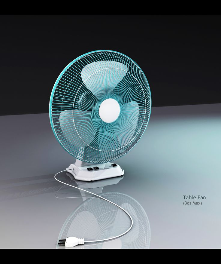 A table Fan Modeled & Lit in 3ds max