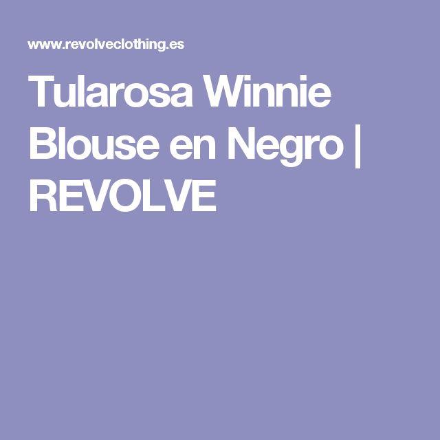 Tularosa Winnie Blouse en Negro | REVOLVE