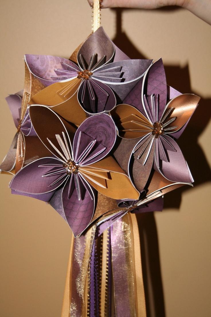 77 best kusudama flowers images on pinterest diy paper and diy kusudama origami floral ball dhlflorist Image collections