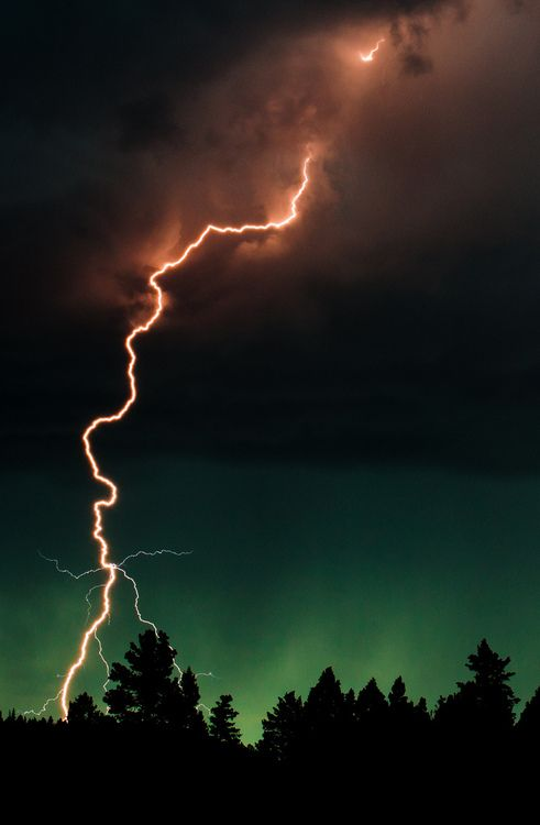 Lightning with Northern Lights in background  two gorgeous weather events