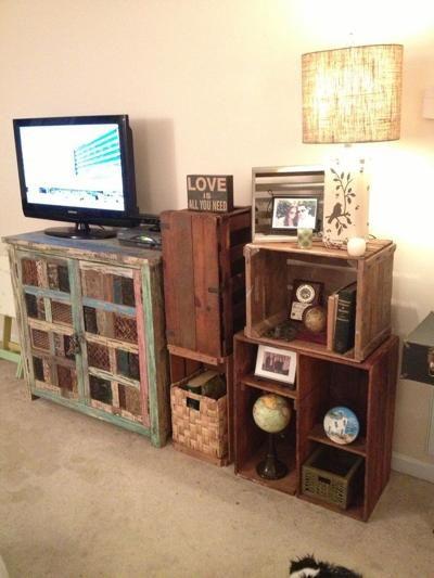 rustic crate bookshelf by furniture