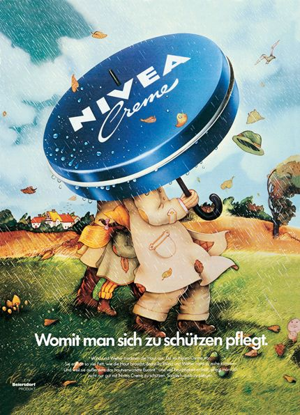 """'Only Me' Campaign    A large-scale advertising campaign emphasized the """"only me"""" quality of NIVEA, combining all aspects of skin care in the best possible way in a single product: NIVEA as a day cream, a night cream, as a cream for different weather conditions and as a moisture and a protective cream.   This series of adverts became an absolute serial success story for NIVEA Creme. It ran in Europe from 1973 - 1988 with over a hundred different themes."""